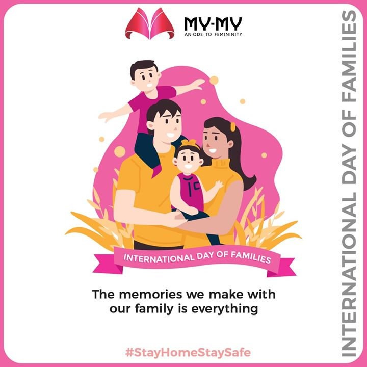 The memories we make with our family is everything  #InternationalDayofFamilies #InternationalDayofFamilies2020 #MyMy #ExclusiveCollection #LatestDesigns #MyMyEdition #StayHome #StaySafe #CoronaVirus #Covid19 #ProtectYourself #IndiafightsCorona