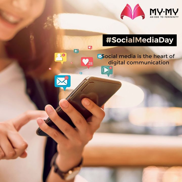 Social media is the heart of digital communication.  #SocialMediaDay #SocialMediaDay2020 #WorldSocialMediaDay  #SocialMedia #MyMy #MyMyCollection #EthnicCollecton #ExculsiveEnsembles #ExclusiveCollection #Ahmedabad #Gujarat #India