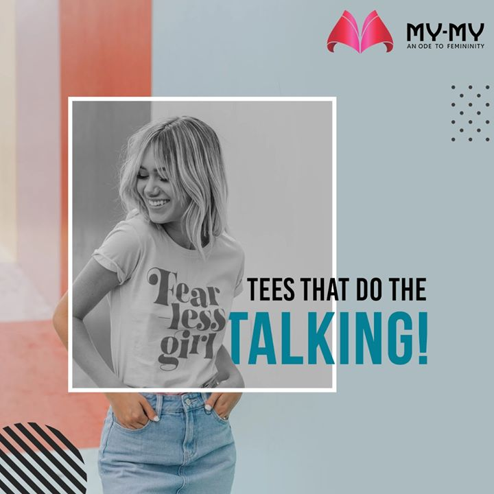 An edgy graphic tee with stylish jeans is a go-to outfit on a lazy day!   #MyMy #MyMyCollection #EthnicCollecton #ExculsiveEnsembles #ExclusiveCollection #Ahmedabad #Gujarat #India