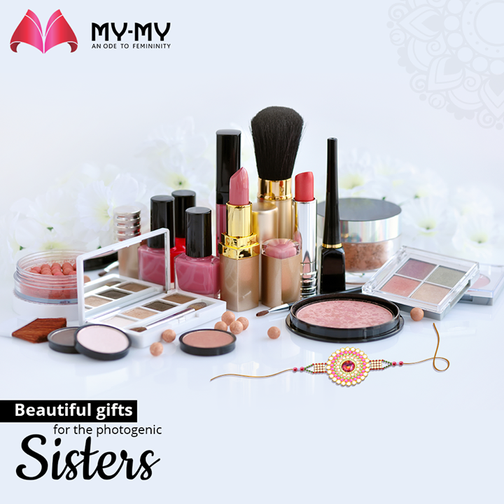 Understand her fashion goals and help your photogenic sister to take her glamour quotient a few notches higher.  Buy her a gift that will make her look picture-perfect from #MYMYStore.  P.S. Bring your sister along for shopping for she will understand the make-up kits better  #Rakshabandhan #RakshabandhanGifts #BestRakshabandhanGifts #RakshabandhanSpecialGifts #MyMy #MyMyCollection #EthnicCollecton #ExculsiveEnsembles #ExclusiveCollection #Ahmedabad #Gujarat #India