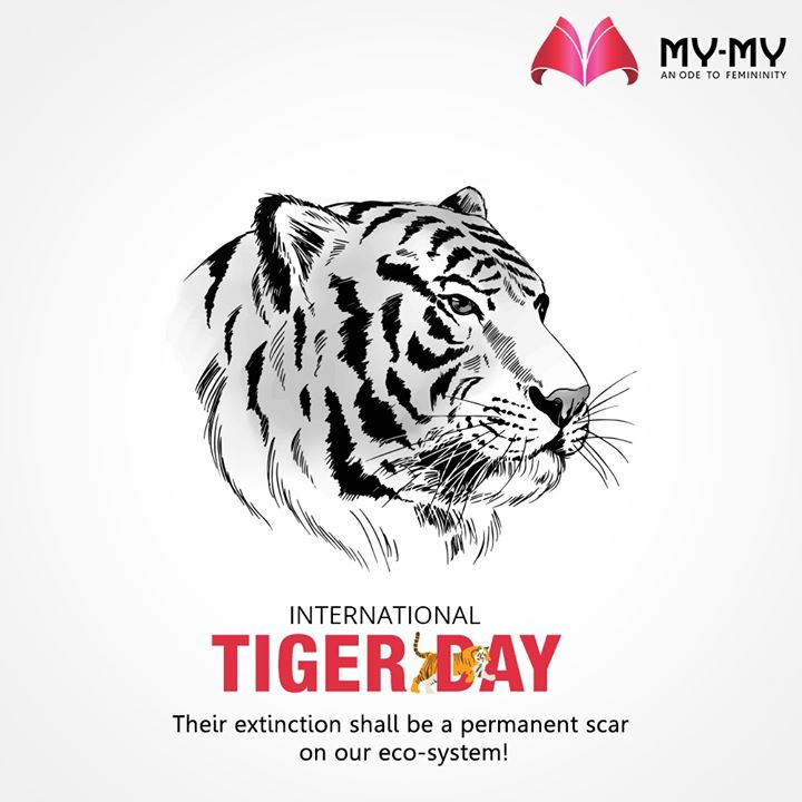 Their extinction shall be a permanent scar on our eco-system!  #InternationalTigerDay #InternationalTigerDay2020 #TigerDay #SaveTheTiger #Tigers #MyMy #MyMyCollection #EthnicCollecton #ExculsiveEnsembles #ExclusiveCollection #Ahmedabad #Gujarat #India
