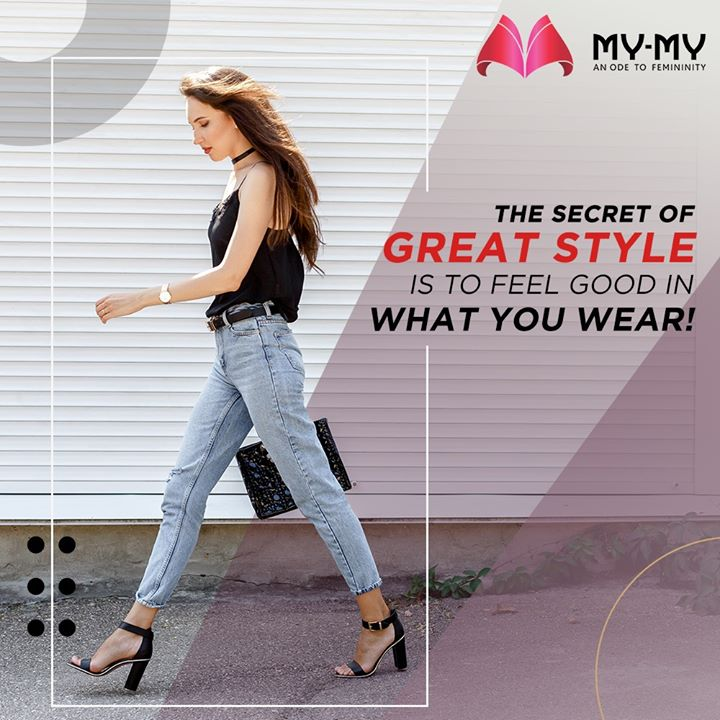 The Secret of great style is to feel good in what you wear!   #MyMy #MyMyCollection #ExculsiveEnsembles #ExclusiveCollection #Heels #Fashion #Clothing #FashionQuotes #Ahmedabad #Gujarat #India