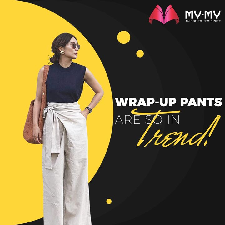 Wrap-up Pants are flowy pants that wrap around your waist and give a more Trendy look paired with a plain tee.   #MyMy #MyMyCollection #ExculsiveEnsembles #ExclusiveCollection #Fashion #Clothing #FashionQuotes #Ahmedabad #Gujarat #India #WrapUpPants #Trendy