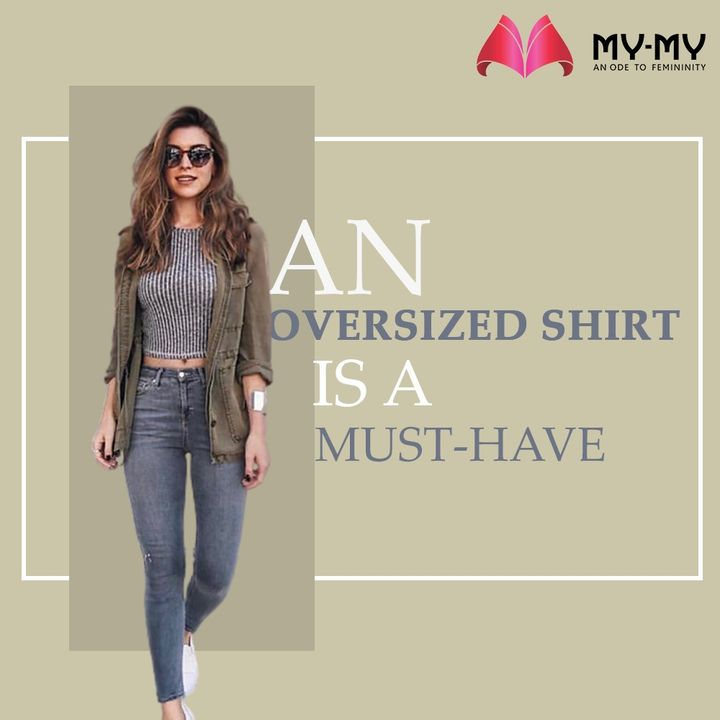 An Oversized Shirt is a Must-have in every Women's closet to elevate your Fashion Aesthetics.   #MyMy #MyMyCollection #Clothing #Fashion #Tops #Jeans #OversizedShirts #Shirts  #Casual #Style #WomensFashion #ExculsiveEnsembles #ExclusiveCollection #Ahmedabad #Gujarat #India