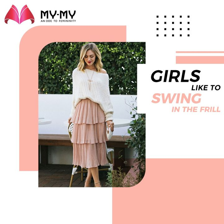 Girls like to swing in the frill.  #MyMy #MyMyCollection #Clothing #Fashion #Ethnic #EthnicWear #Kurti #Palazzo #Scarf #Style #WomensFashion #ExculsiveEnsembles #ExclusiveCollection #Ahmedabad #Gujarat #India