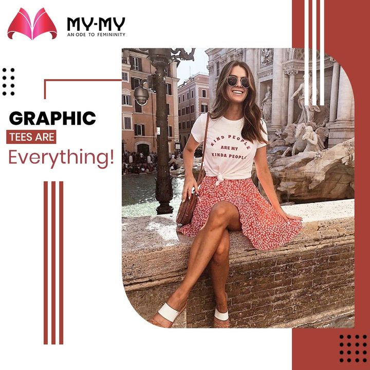 Let your Graphic Tees do the talking because they are the real deal! Show your personality through the graphic tees.   #MyMy #MyMyCollection #Clothing #Fashion #Tees #GraphicTee #Casual #Style #WomensFashion #ExculsiveEnsembles #ExclusiveCollection #Ahmedabad #Gujarat #India