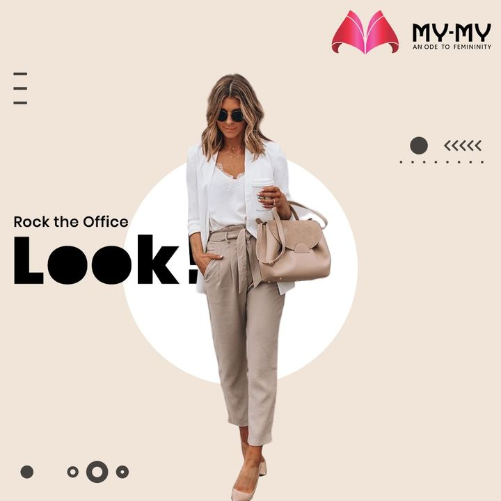 Rock the Office Look with a Blazer on top of your outfit to look professional, instantly.   #MyMy #MyMyCollection #Clothing #Fashion #Tees #Blazer #Top #Pants #OfficeLook  #Casual #Style #WomensFashion #ExculsiveEnsembles #ExclusiveCollection #Ahmedabad #Gujarat #India