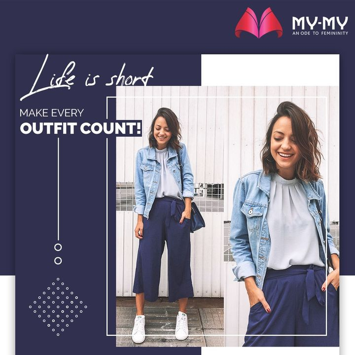 Life is short, make every outfit count.  #FashionQuote #MyMy #MyMyCollection #Clothing #Fashion #Outfit #FashionOutfit #Tees #CropShirt #CropTops #Shirt #HighRisePants #Top #Pants #OfficeLook #Casual #Style #WomensFashion #ExculsiveEnsembles #ExclusiveCollection #Ahmedabad #Gujarat #India