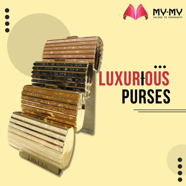 Shine your way into every occasion with a Luxurious Purse.   #MyMy #MyMyCollection #PurseCollection  #Purse #BrandedPurses #WomensPurse  #ExclusiveCollection #Fashion #Ahmedabad #Gujarat #India