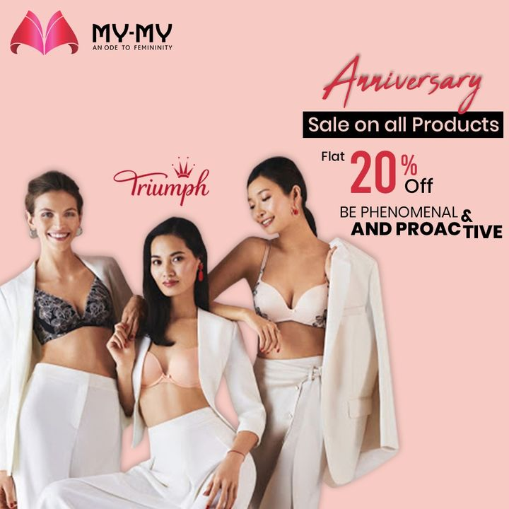 My-My brings to you an exciting Lingerie Sale by Triumph. Be phenomenal and proactive in alluring Lingeirie.   Get Flat 20% OFF on all products from 1st to 15th Nov. For More details: www.instagram.com/triumphlingerie/  #MyMy #MyMyCollection #Lingerie #Triumph #TriumphLingerie #LingerieSale #ExclusiveCollection #Fashion #Ahmedabad #Gujarat #India