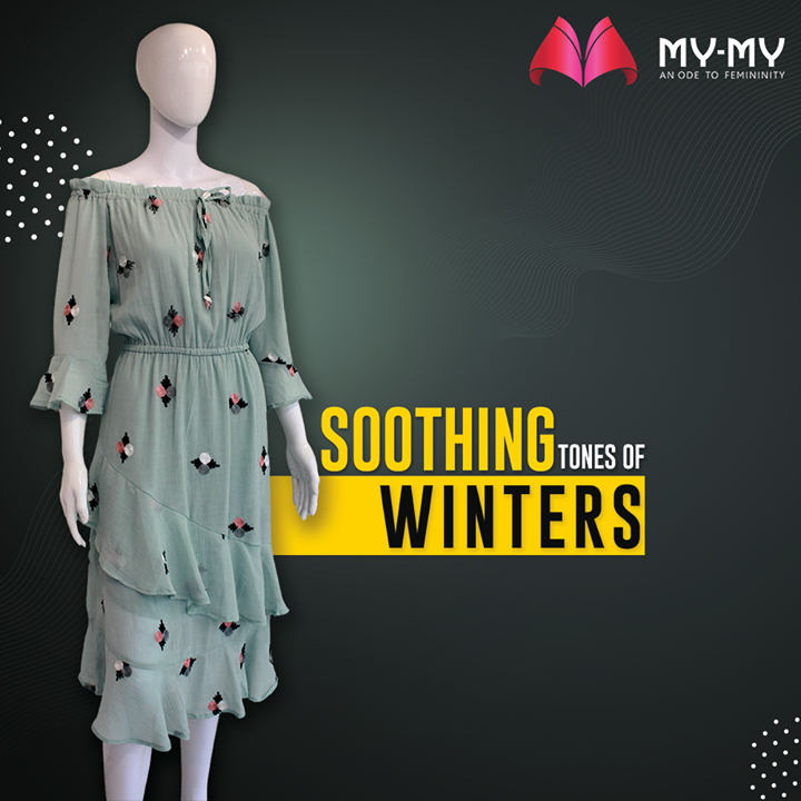 Bringing to you the looks that are most loved! An alluring dress that cinches on the waist and is off shoulder is perfect to be paired with a cool jacket.   #MyMy #MyMyCollection #Clothing #Fashion #Outfit #FashionOutfit #Dress #WinterDresses #CasualWear #WinterOutfits #Style #WomensFashion #Ahmedabad #SGHighway #SGRoad #CGRoad #Gujarat #India