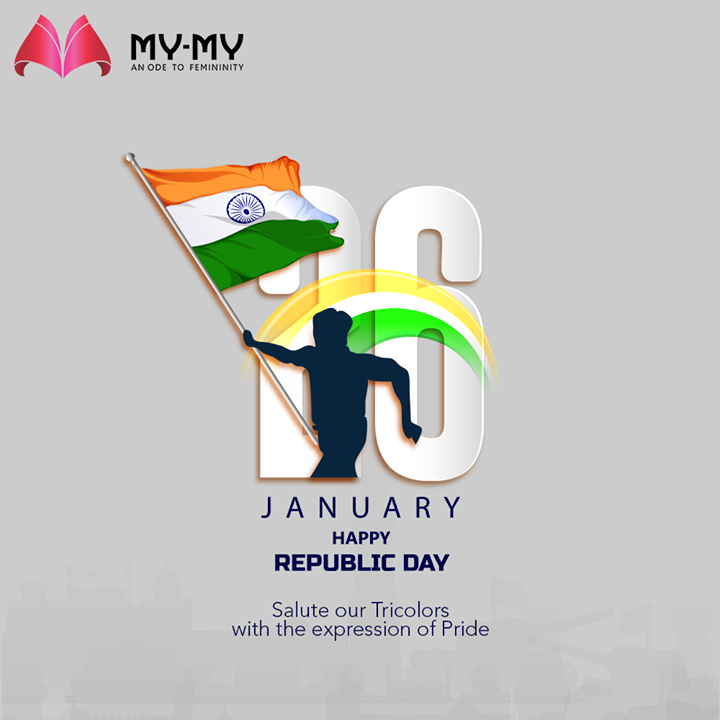 Salute our Tricolors with the expression of Pride.  #HappyRepublicDay #RepublicDayIndia #RepublicDay2021 #India #MyMy #MyMyCollection #Clothing #Fashion #Ahmedabad #Gujarat #India