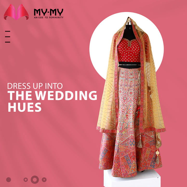 Dress Up into the Wedding Hues in a regal lehenga that possesses a charm that can never go unnoticed.  #MyMyCollection #Clothing #Fashion #Outfit #FashionOutfit #Dress #Lehenga #Kurta #EthnicCollection #FestiveWear #WeddingOutfits #Style #WomensFashion #Ahmedabad #SGHighway #SGRoad #CGRoad #Gujarat #India