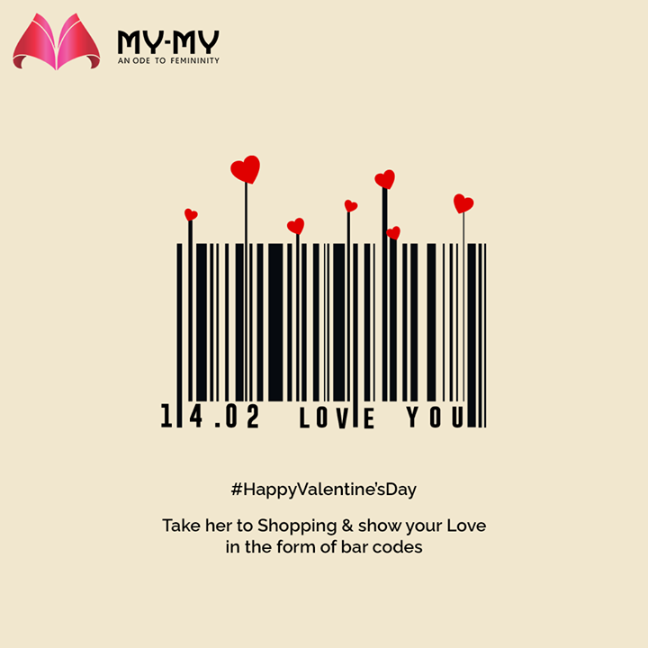 Take her to Shopping & show your Love in the form of bar codes.  #HappyValentinesDay #Valentine #Love #ValentinesDay #ValentinesDay2021 #MyMyCollection #Clothing #Fashion #Outfit #FashionOutfit #Dress #Kurta #EthnicCollection #FestiveWear #WeddingOutfits #Style #WomensFashion #Ahmedabad #SGHighway #SGRoad #CGRoad #Gujarat #India