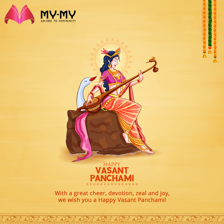 With a great cheer, devotion, zeal and joy, we wish you a Happy Vasant Panchmi!  #VasantPanchami #HappyVasantPanchmi #SaraswatiPuja #VasantPanchami2021 #MyMyCollection #Clothing #Fashion #Outfit #FashionOutfit #EthnicCollection #FestiveWear #WeddingOutfits #WomensFashion #Ahmedabad #SGHighway #SGRoad #CGRoad #Gujarat #India