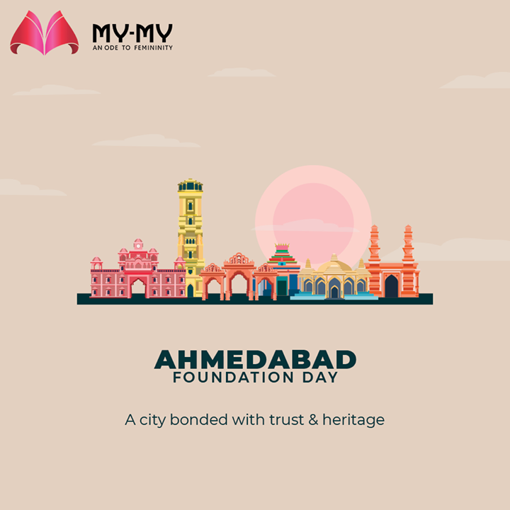 A city bonded with trust & heritage  #HappyBirthdayAhmedabad #AhmedabadFoundationDay #AhmedabadFoundationDay2021 #AhmedabadSthapanaDivas #Ahmedabad #MyMy #MyMyCollection #Clothing #Fashion #FashionOutfit #Ahmedabad #SGHighway #SGRoad #CGRoad #Gujarat #India