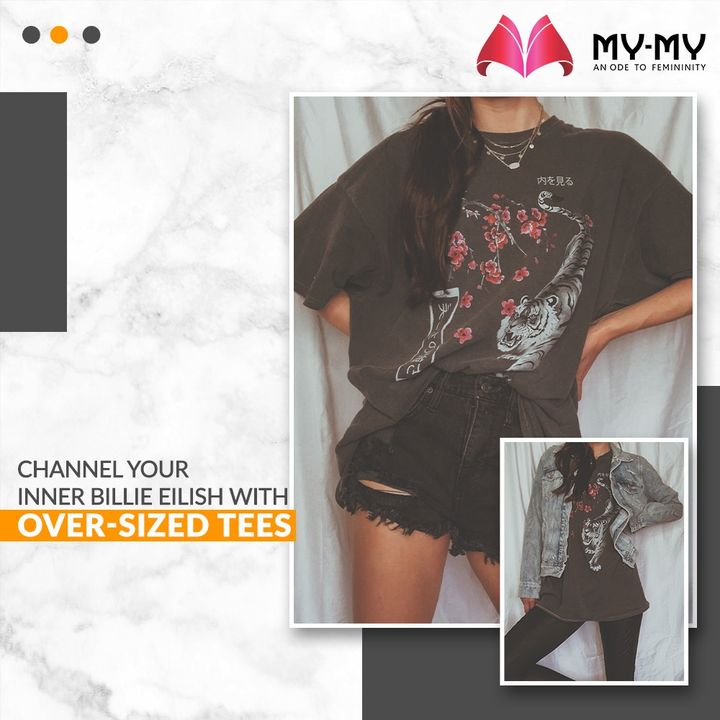 One can style Over-Sized Tees in a million ways. Channel your inner Billie Eilish and unlock comfort like never before with Over-Sized Tees.  #MyMy #MyMyCollection #Clothing #Fashion #Outfit #FashionOutfit #OversizedTee #Tees #TShirts #BillieElilish #CasualWear #Style #WomensFashion #Ahmedabad #SGHighway #SGRoad #CGRoad #Gujarat #India