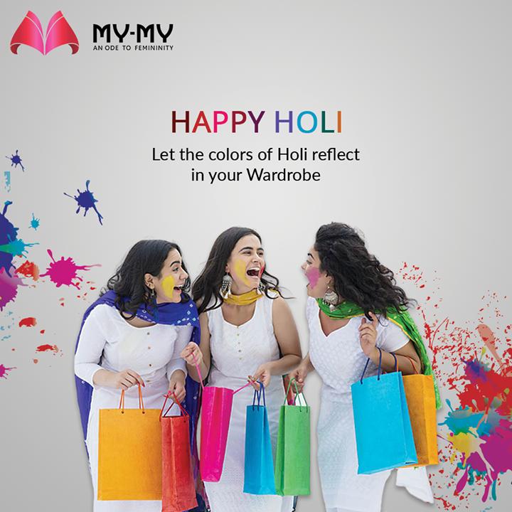 Let the colors of Holi reflect in your Wardrobe  #Holi #HappyHoli #Holi2021 #Colours #FestivalOfColours #HoliHai #Festival #IndianFestival #MyMy #MyMyCollection #Clothing #Fashion #Outfit #FashionOutfit #Dresses #CasualWear #Style #WomensFashion #Ahmedabad #SGHighway #SGRoad #CGRoad #Gujarat #India