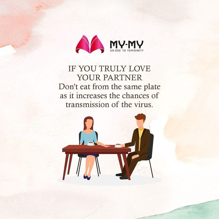 Sometimes, not sharing is caring.  Let's refrain ourselves from doing such sweet but hazardous activities that can harm you or your partner.  #mymy #mymyahmedabad #stayathome #staysafe #protectyourself #protectyourfamily #familytime #familygoals #couplegoals #relationshipgoals