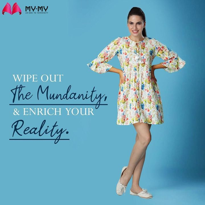 Working from the office has started seeming mundane again?  Bring out the joyous clothes from the closet and wear them at work.  Shop your favourite collection from your nearest My-My store, every day from 10 AM to 3 PM. . . . . #MyMy #MyMyCollection #Clothing #Fashion #Outfit #FashionOutfit #comfyclothes #blissfulmoments  #blissfulmoment #comfywear #comfyoutfits #help #summerwear #summeroutfits #sharegoodvibes #goodvibes #fashioninahmedabad  #ahmedabadclothing #ahmedabadfashion #gujaratfashion #WomensFashion #Ahmedab