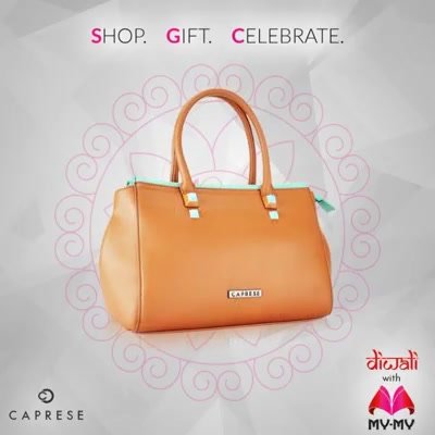 Style it up this Diwali with glamorous Caprese bags.    Visit your nearest My-My showroom located at C.G. Road and S.G. Highway to find great deals on our handbag collection.  #MyMyAhmedabad #DiwaliShopping