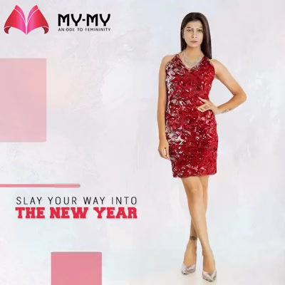 Dive into the new year with this gorgeous #reddress from My-My!   #NewYearDress #RedDress #NewYearEve #FemaleFashion #Ahmedabad #EthnicWear #BeautifulDresses #Sparkle #Gujarat #India