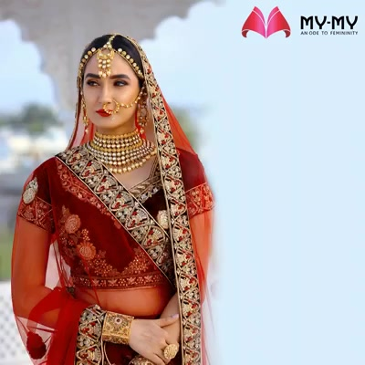 Be the gorgeous bride who is proud of her ethnicity and reflect your ethnic identity with elegant bridal-wears from My-My.  #ExquisiteEnsembles #WinsomeDresses #InvokeElegance #RedefineSenseOfLuxury #PhilosophyOfDressing #ContemporaryFashion #FemaleFashion #Ahmedabad #FallForFashion #BeautifulDresses #Sparkle #Gujarat #India