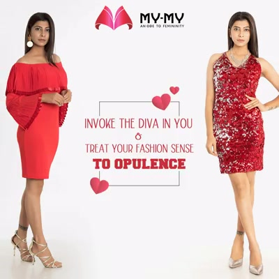This Valentine's Day, invoke the diva in you & treat your fashion sense to opulence with outfits from the luxury retail store; My-My  #DazzleYourValentine #MonthOfLove #FlauntYourFashion #MyMy #MyMyCollection #WesternOutfits #ExculsiveEnsembles #ExclusiveCollection #Ahmedabad #Gujarat #India