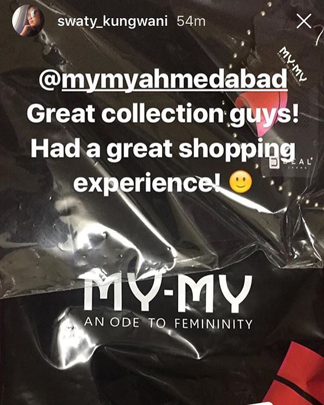 Thank you @swaty_kungwani! Glad you enjoyed shopping with us. Congratulations, again, for winning our Rakshabandhan Contest.  #MyMyAhmedabad #ContestWinner #Regram