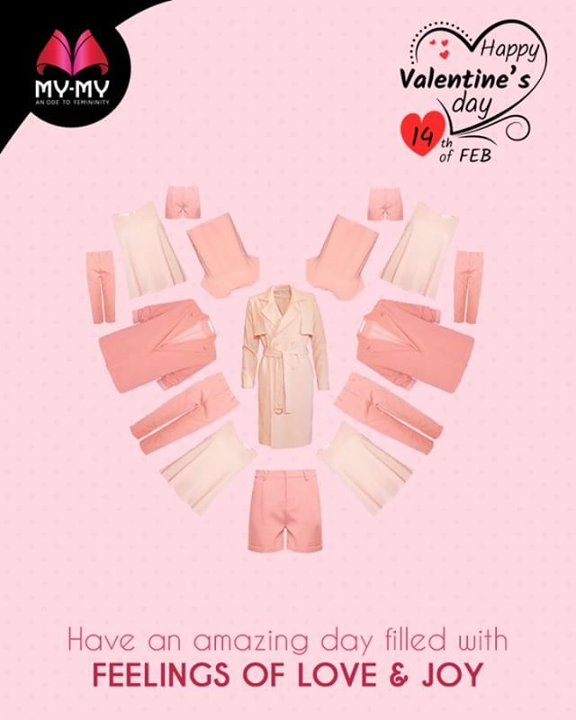 Have an amazing day filled with feelings of love & joy.  #HappyValentineDay #14thFeburary #ValentinesDay #CurrentTrend #NewTrend #MyMyAhmedabad #FemalelFashion #Fashion