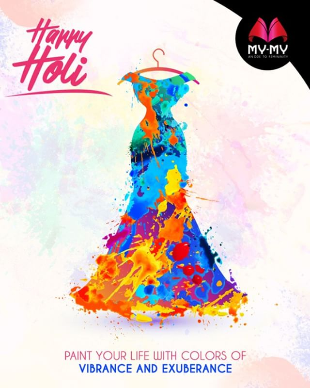 Paint your life with colors of vibrance and exuberance.  #HappyHoli #Holihai #HoliFestival #IndianFestivals #Holi2018 #MyMyAhmedabad #FemalelFashion #Fashion
