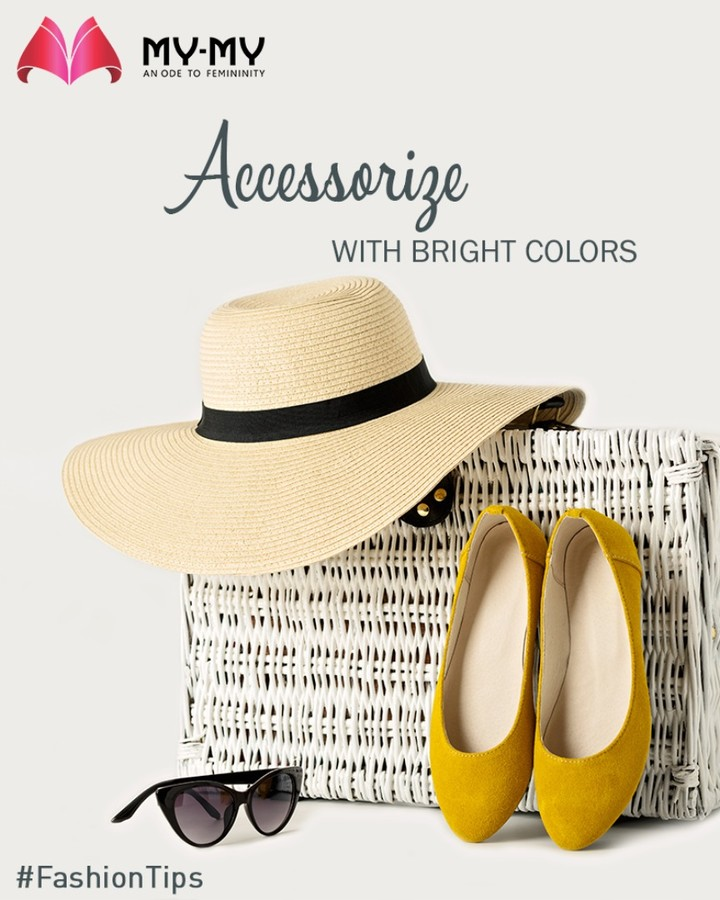 Pair bright and bold Accessories with your neutrals like black, white, beige, olive or navy.  #FashionTips #MyMy #MyMyAhmedabad #Fashion #Ahmedabad