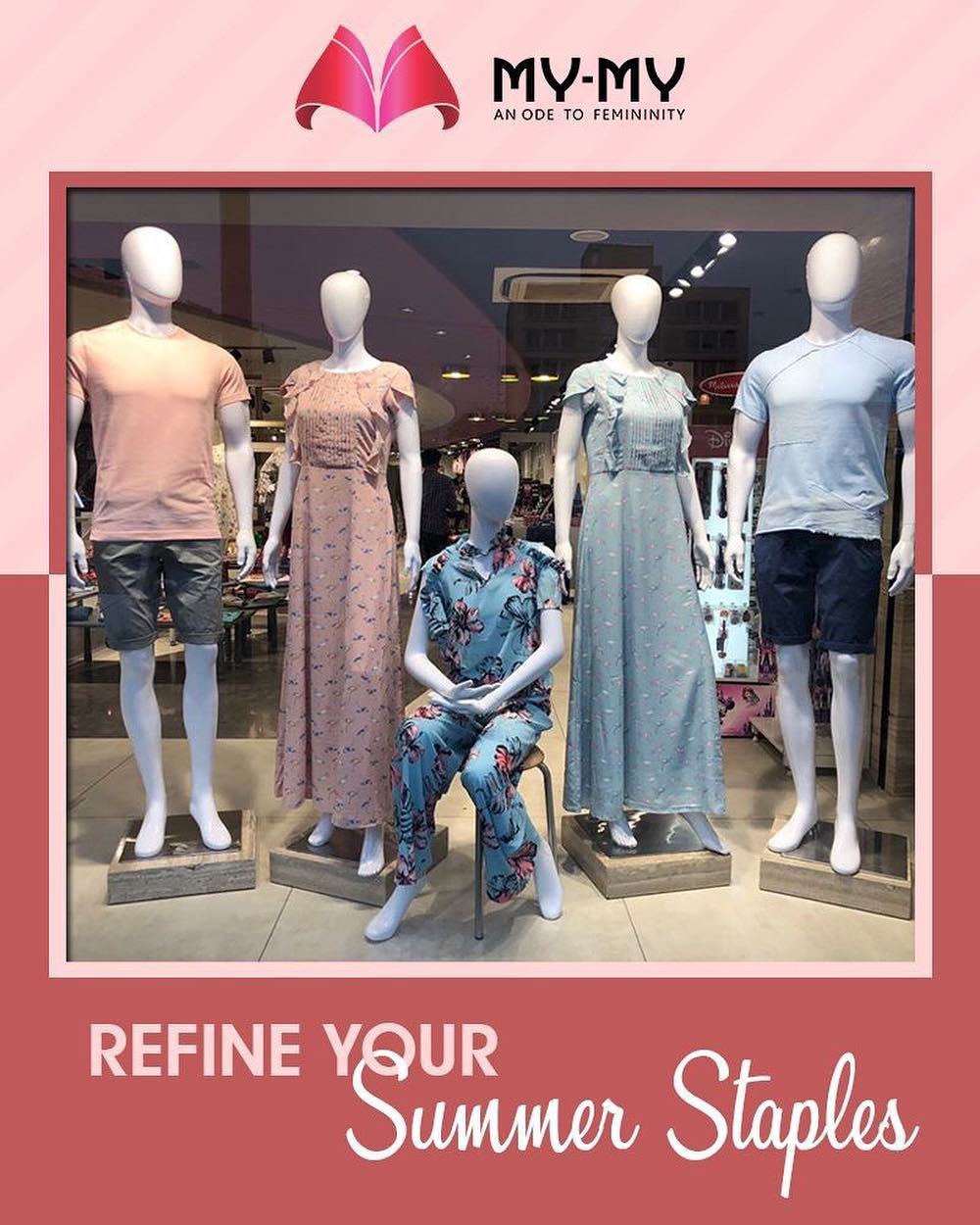 Get your sunny weather style sorted.  #SummerWardrobe #MyMy #MyMyAhmedabad #Fashion #Ahmedabad