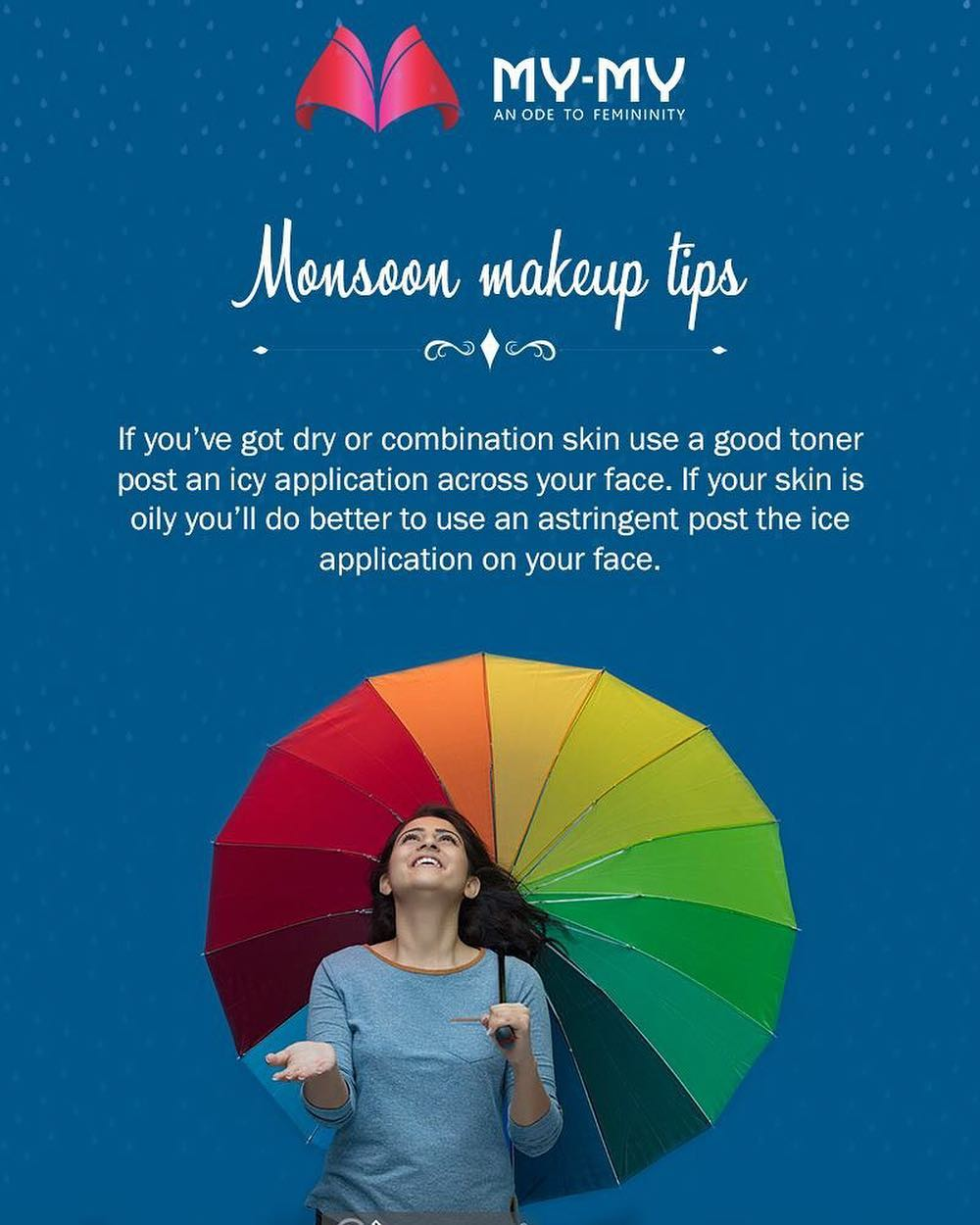 Some quick makeup fix for the monsoon!  #MakeUpTips #MonsoonTips #MyMy #MyMyAhmedabad #Fashion #Ahmedabad #FemaleFashion
