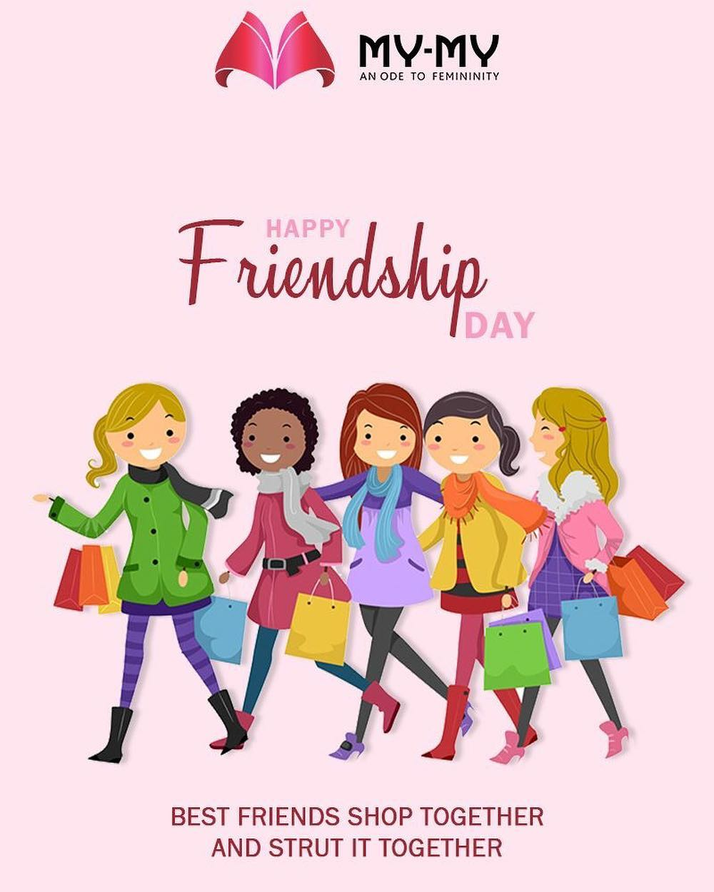Best friends shop together & strut it together.  #HappyFriendshipDay #FriendshipDay18 #FriendshipDay #FriendshipDayCelebration #Friendship #Friends #MyMy #MyMyAhmedabad #Fashion #Ahmedabad #FemaleFashion