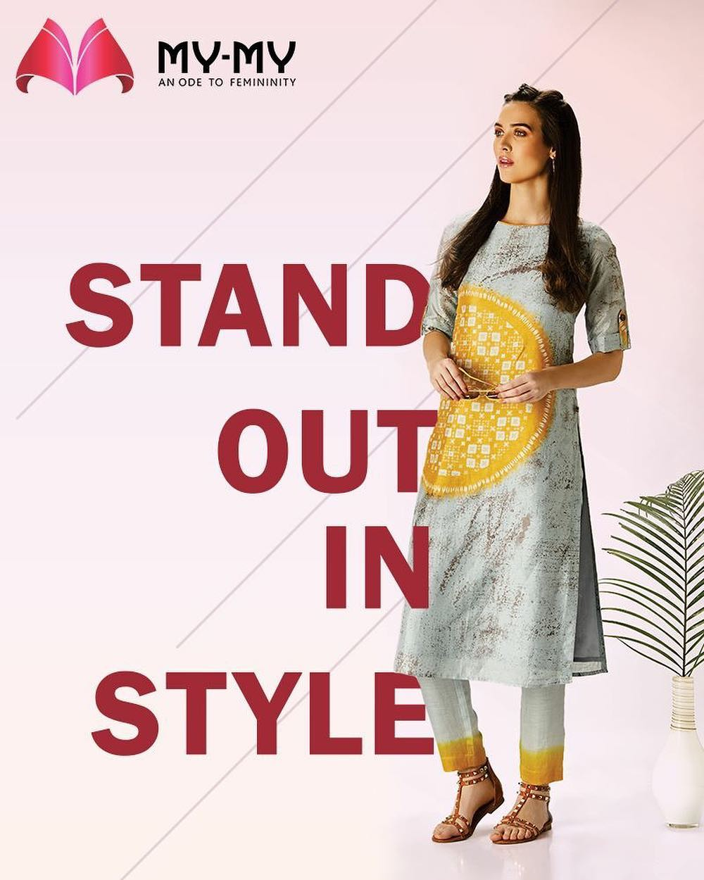 Ace the trendy-ethnic look with this Kurti.  #Ethnic #Kurti #MyMy #MyMyAhmedabad #Fashion #Ahmedabad #FemaleFashion