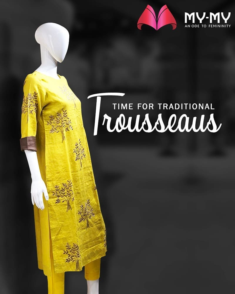 It's the time of the year to stock on your traditional trousseaus!  #MyMy #FashionTrends #MyMyAhmedabad #Fashion #AhmedabadFashion