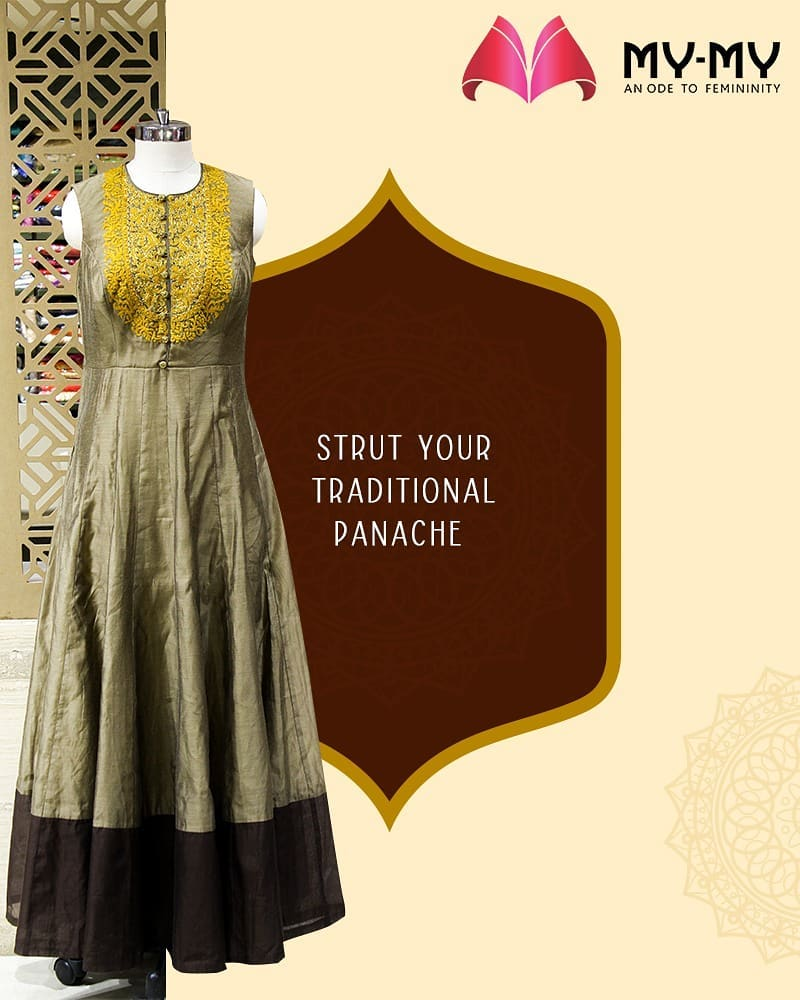 The festive season is here, time to strut your traditional panache!  #MYMYStore #Fashion #FestiveShopping #Shopping #FashionStore #Gujarat #India