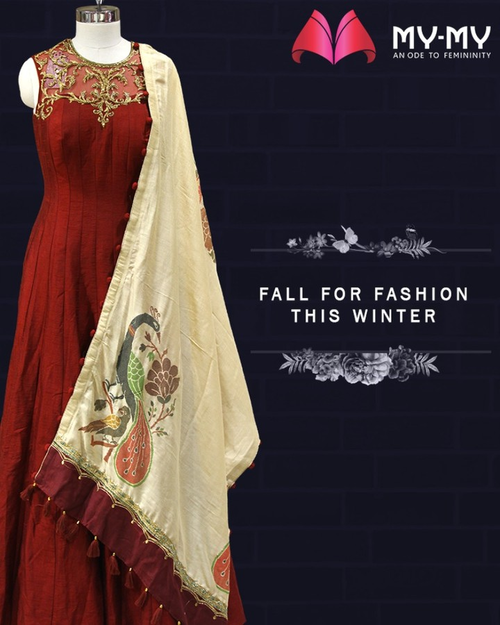 Fall for fashion this winter and create an alluring feminine look with outfits from My-My.  #FallForFashion #MyMy #MyMyCollection #ExculsiveEnsembles #ExclusiveCollection #Ahmedabad #Gujarat #India