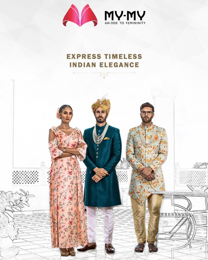 Let the expressions of timeless elegance come to life with the traditional apparels from My-My  #ExpressTimelessElegance #TraditionalGalore #EthnicLook #Ultraomoderncollection #MyMy #MyMyCollection #ExculsiveEnsembles #ExclusiveCollection #Ahmedabad #Gujarat #India