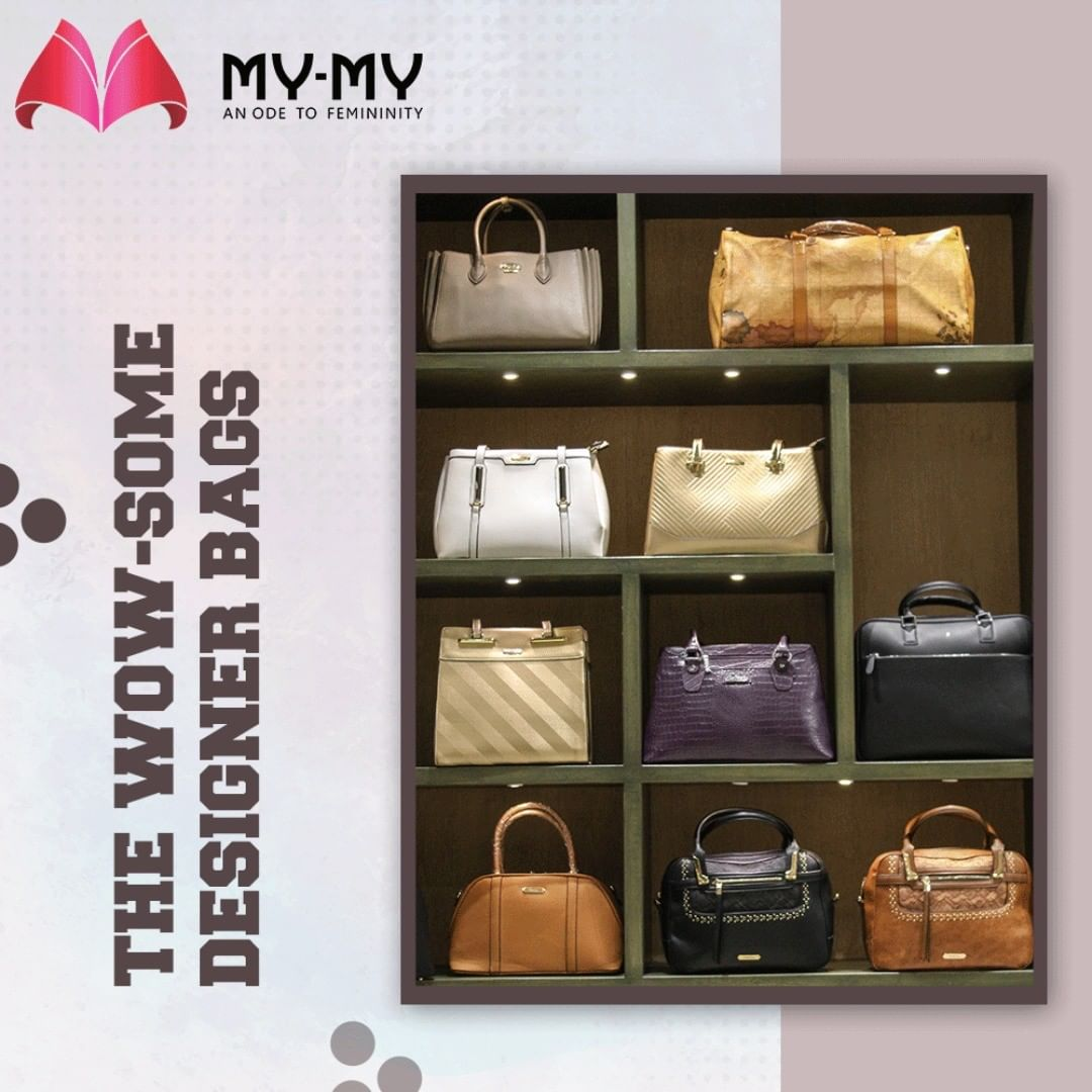Have you been looking for the trendy & impeccably designed handbags that will correctly match your outfits?  Then halt, and consider your search over at My-My.  #Wowsome #DesignerBags #MYMYStore #BagsToFallFor #EverydayEssentials #Fashion #DesignerBags #Shopping #FashionStore #Gujarat #India