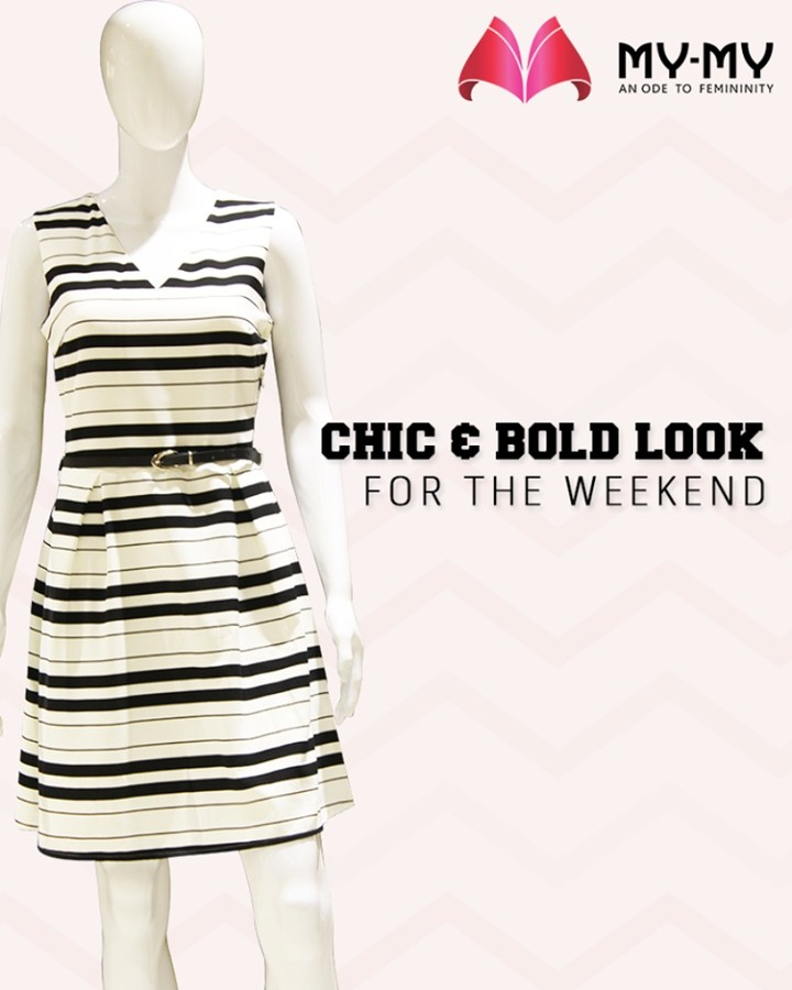 Be bold, look stellar and fashionably face the world! Nail the chic & bold look for the weekend with My-My.  #ChicAndBold #LookStellar #WeekendStyle #FascinatingFashionDestination #FemaleFashion #Ahmedabad #EthnicWear #BeautifulDresses #Sparkle #Gujarat #India