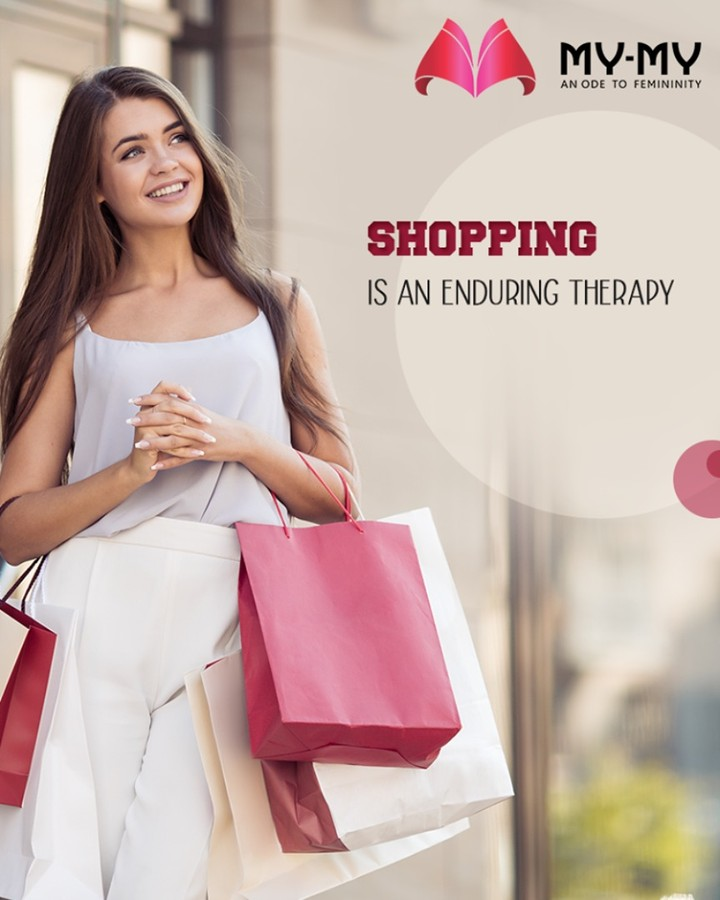 Shopping is an enduring therapy! Pamper yourself with a shopping spree and look picture-perfect this Valentine's Day.  #ShoppingTherapy #PamperYourself #LookPicturePerfect #DazzleYourValentine #MonthOfLove #FlauntYourFashion #MyMy