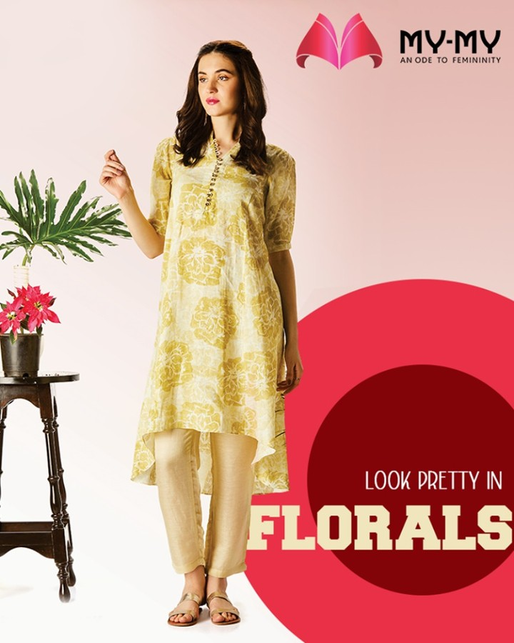Bloom in beauty and look pretty in florals, on this season of love with My-My.  #PrettyInFloral #DazzleYourValentine #MonthOfLove #FlauntYourFashion #MyMy #MyMyCollection #WesternOutfits #ExculsiveEnsembles #ExclusiveCollection #Ahmedabad #Gujarat #India