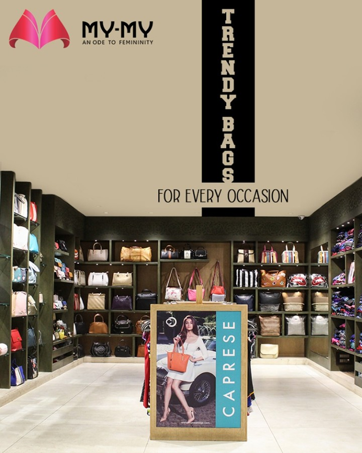 Catch a glimpse of My-My's trendy bags collection. Visit us to hand-pick the one that match your outfit and lures your heart.  #MYMYStore #BagsToFallFor #EverydayEssentials #Fashion #DesignerBags #Shopping #FashionStore #Gujarat #India