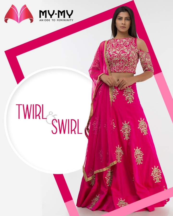 My-My,  TwirlNSwirl, TraditionalEnsembles, EthnicCollection, BridesOfIndia, BridalWear, TraditionalWear, FemaleFashion, Ahmedabad, EthnicWear, BeautifulDresses, Sparkle, Gujarat, India