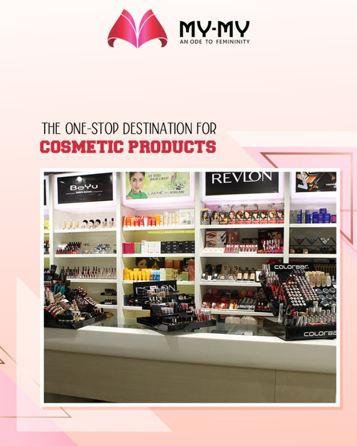 Life gets sorted when you have the convenience to find all your desired ensembles under one roof! Drop in at the one-stop destination for cosmetic products; My-My and enjoy hassle-free purchases.  #GlamUp #BeautyProducts #CosmeticProducts #StayStylish #GlamUpGlamourGame #AssortedEnsembles #AestheticPerfection #FemaleFashion #MYMY #Ahmedabad
