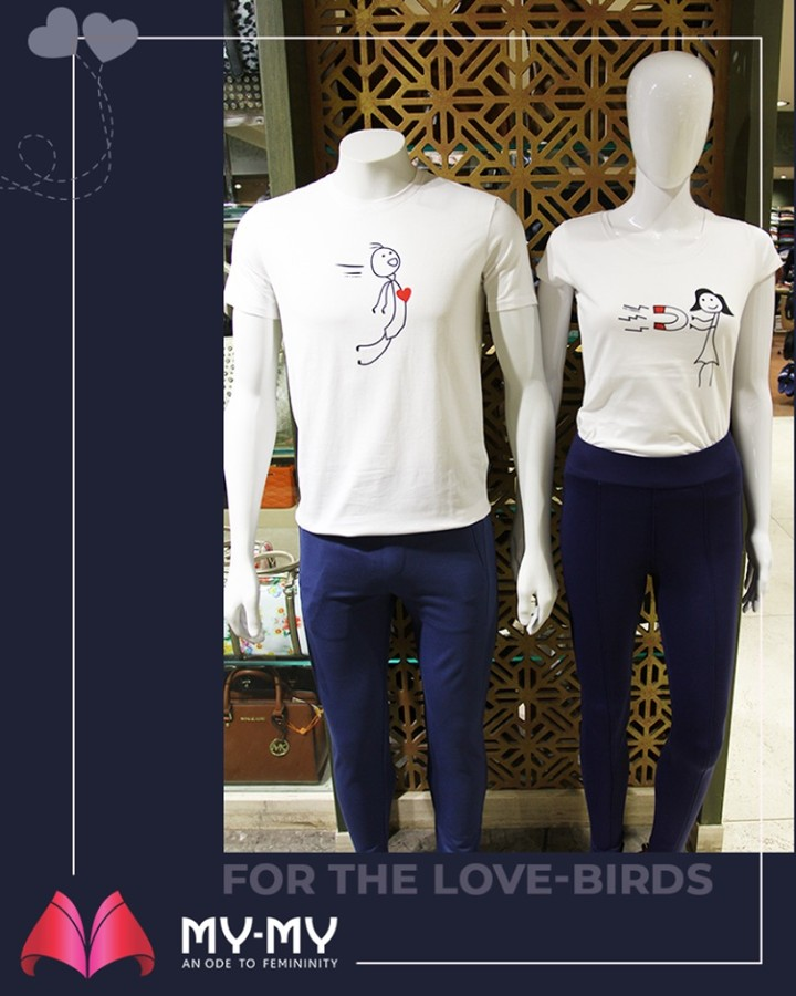 Go love-twinning with your partner by adorning these funky T-shirts!  #MyMy #MyMyCollection #ExculsiveEnsembles #ExclusiveCollection #Ahmedabad #Gujarat #India