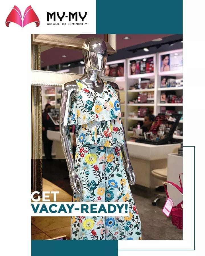 Get vacay-read by donning this flowery themed up and down!  #MyMy #MyMyCollection #ExculsiveEnsembles #ExclusiveCollection #Ahmedabad #Gujarat #India