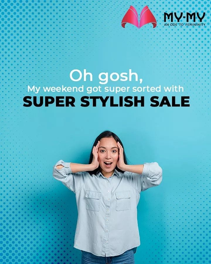 Oh yes, the Super Stylish Sale is back in the town to sate all your fashion thirst!  Have a stylish weekend fellas!  #SuperStylishSale #Sale #SpecialOffer #MyMy #MyMyCollection #ExculsiveEnsembles #ExclusiveCollection #Ahmedabad #Gujarat #India
